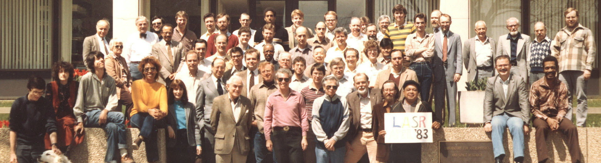 LASR 1983 staff picture. Click for printable version with legend.